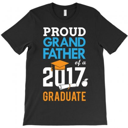 Class Of 2017 Proud Grand Father Graduation T-shirt Designed By Designbycommodus