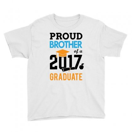Class Of 2017 Proud Brother Graduation Youth Tee Designed By Designbycommodus