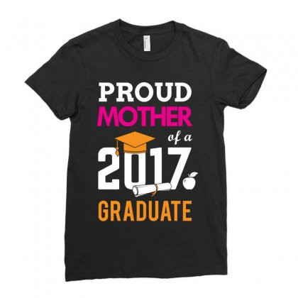 Class Of 2017 Proud Mother Graduation Ladies Fitted T-shirt Designed By Designbycommodus