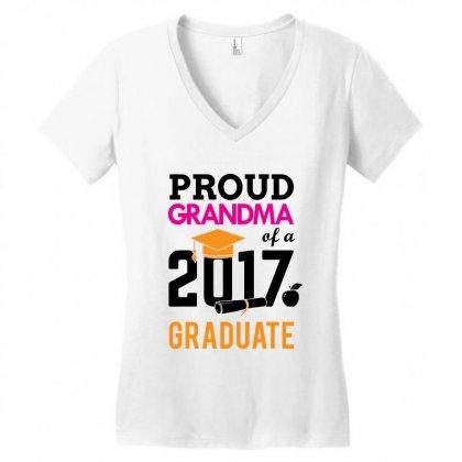 Class Of 2017 Proud Mother Graduation Women's V-neck T-shirt Designed By Designbycommodus