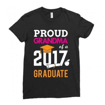 Class Of 2017 Proud Grandma Graduation Ladies Fitted T-shirt Designed By Designbycommodus