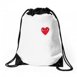comme des garcons play Drawstring Bags | Artistshot