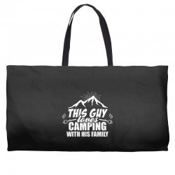 This Guy Loves Camping With His Family Weekender Totes | Artistshot