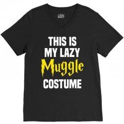 This Is My Lazy Muggle Costume V-Neck Tee | Artistshot