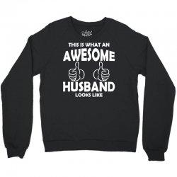 Awesome Husband Looks Like Crewneck Sweatshirt | Artistshot