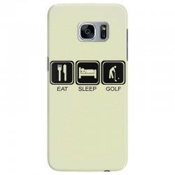 eat,sleep,golf Samsung Galaxy S7 Edge Case | Artistshot