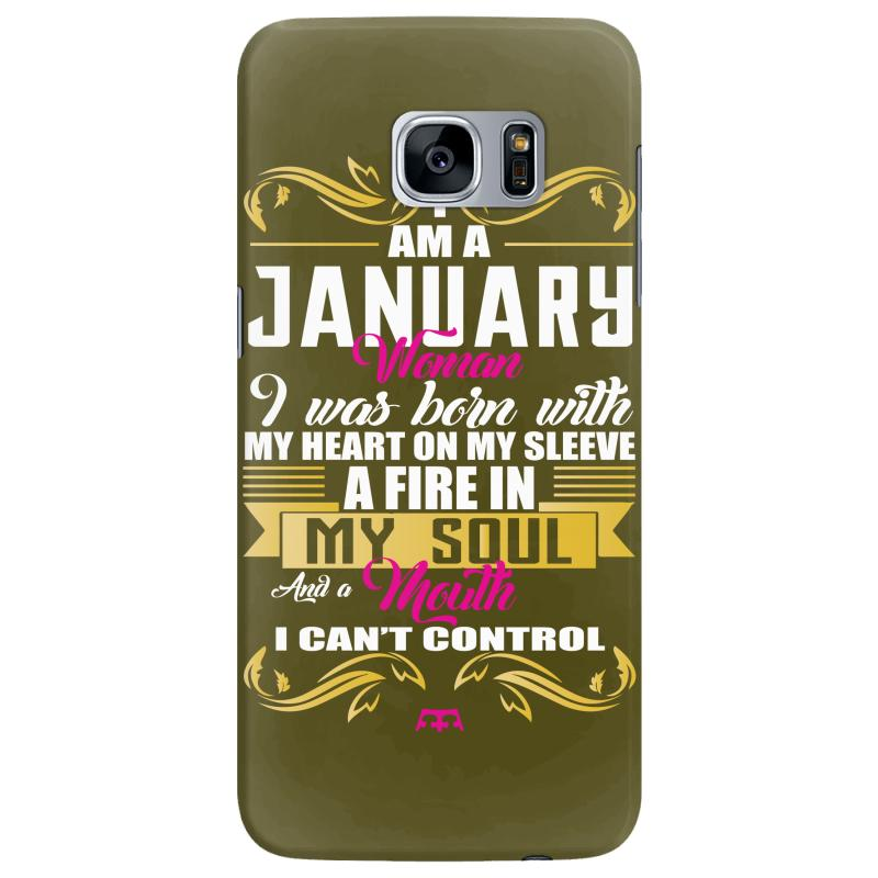 I Am A January Women Samsung Galaxy S7 Edge Case | Artistshot