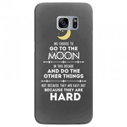 We Choose to Go to The Moon Samsung Galaxy S7 Edge Case | Artistshot