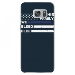 in this family we bleed blue funny Samsung Galaxy S7 Case | Artistshot