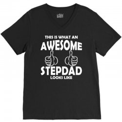 Awesome Stepdad Looks Like V-Neck Tee | Artistshot