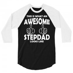 Awesome Stepdad Looks Like 3/4 Sleeve Shirt | Artistshot