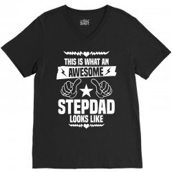 Awesome Stepdad Looks Like V-Neck Tee | Artistshot