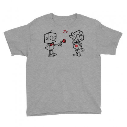 Cute Love Robots Youth Tee Designed By Sbm052017