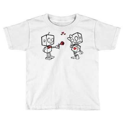 Cute Love Robots Toddler T-shirt Designed By Sbm052017