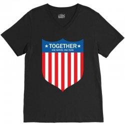 Together (One Nation. One Team) V-Neck Tee | Artistshot