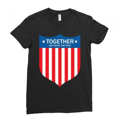 Together (one Nation. One Team) Ladies Fitted T-shirt Designed By Tshiart