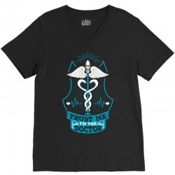 Trust Me I'm The Doctor. V-Neck Tee | Artistshot
