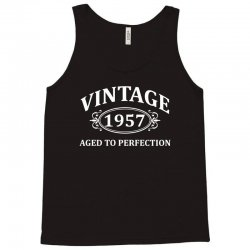 Vintage 1957 Aged to Perfection Tank Top   Artistshot