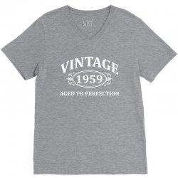 Vintage 1959 Aged to Perfection V-Neck Tee | Artistshot
