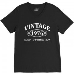 Vintage 1976 Aged to Perfection V-Neck Tee | Artistshot