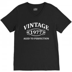 Vintage 1977 Aged to Perfection V-Neck Tee | Artistshot