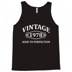 Vintage 1978 Aged to Perfection Tank Top   Artistshot