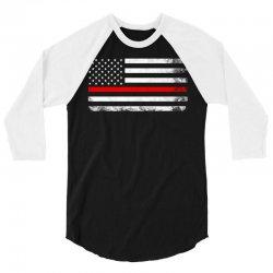 Vintage USA Flag 3/4 Sleeve Shirt | Artistshot