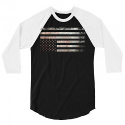 Vintage Usa Flag 3/4 Sleeve Shirt | Artistshot