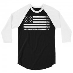 Vintage Usa Flag 3/4 Sleeve Shirt   Artistshot