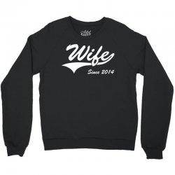 Wife Since 2014 Crewneck Sweatshirt | Artistshot