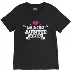 Worlds Best Auntie Ever V-Neck Tee | Artistshot