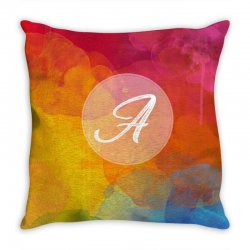 letter a  initial Throw Pillow   Artistshot