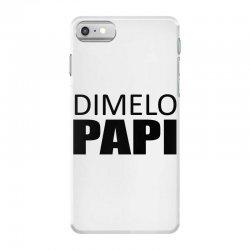 dimelo papi nicky jam reggaeton regueton  black iPhone 7 Case   Artistshot