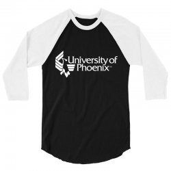 university of phoenix 3/4 Sleeve Shirt | Artistshot