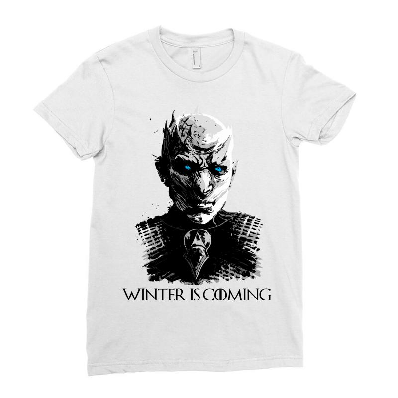 3970dac99 Custom Winter Is Coming Game Of Thrones Ladies Fitted T-shirt By ...