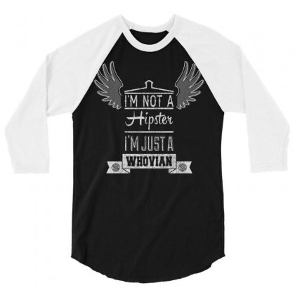 Whovian Hipster 3/4 Sleeve Shirt Designed By Karlangas