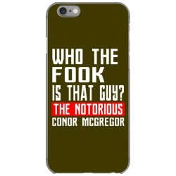 who the fook is that guy conor mcgregor iPhone 6/6s Case   Artistshot