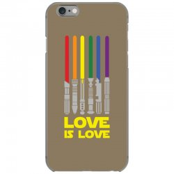 Lightsaber Rainbow - Love Is Love iPhone 6/6s Case | Artistshot