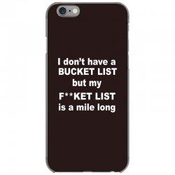 fucket list iPhone 6/6s Case | Artistshot