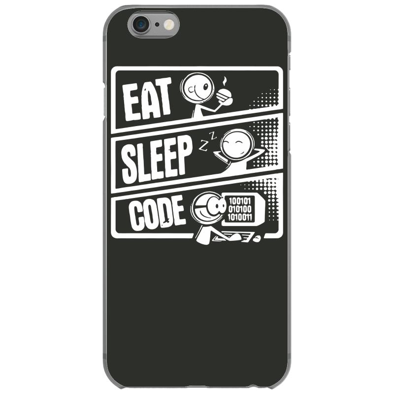custom v3 eat sleep code iphone 6 6s case by mdk art artistshot. Black Bedroom Furniture Sets. Home Design Ideas