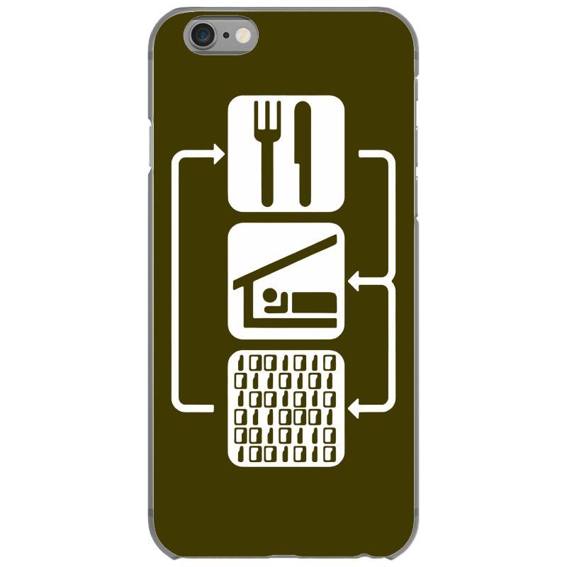 Custom V2 Eat Sleep Binary Code Iphone 6/6s Case By Mdk