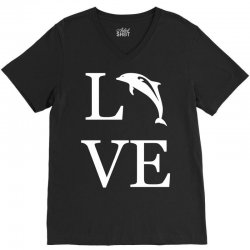 love dolphin V-Neck Tee | Artistshot