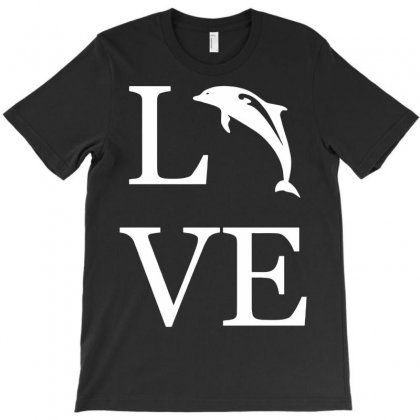 Love Dolphin T-shirt Designed By Secreet