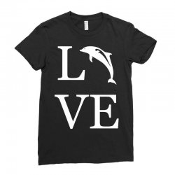 love dolphin Ladies Fitted T-Shirt | Artistshot