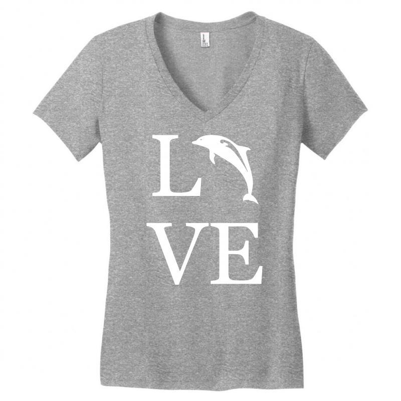 Love Dolphin Women's V-neck T-shirt | Artistshot