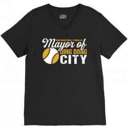 Travis Shaw - Mayor of Ding Dong City V-Neck Tee | Artistshot