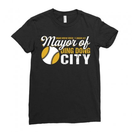 Travis Shaw - Mayor Of Ding Dong City Ladies Fitted T-shirt Designed By Tshiart