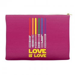 Lightsaber Rainbow - Love Is Love Accessory Pouches | Artistshot