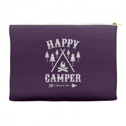 happy camping Accessory Pouches | Artistshot