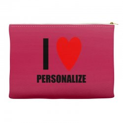 i love personalize Accessory Pouches | Artistshot